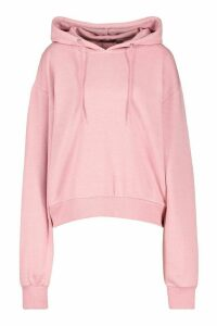 Womens Basic Soft Mix & Match Oversized Hoodie - pink - 14, Pink