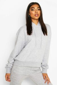 Womens Basic Soft Mix & Match Oversized Hoodie - grey - 14, Grey