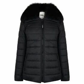 Yves Salomon Short Fur Trim Puffa Jacket