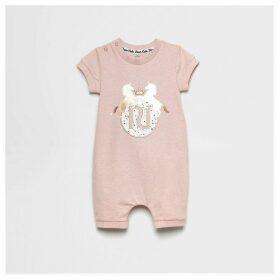 River Island Baby Pink RI unicorn printed romper