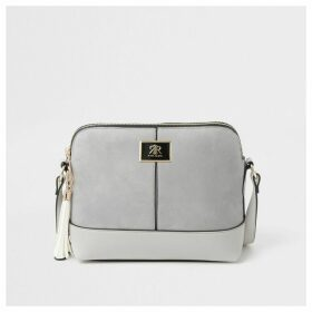 River Island Womens Grey suedette cross body bag