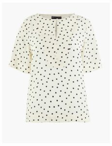 M&S Collection PETITE Polka Dot Blouse