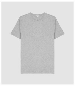 Reiss Heaton - Textured Melange Crew Neck T-shirt in Grey, Mens, Size XXL