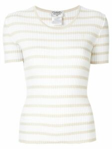 Chanel Pre-Owned 1998 knitted striped top - White