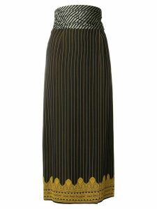 Jean Paul Gaultier Pre-Owned mid-calf pinstripe skirt - Blue