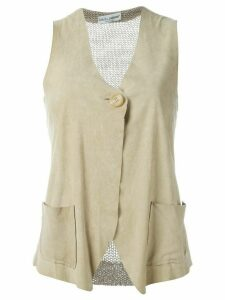 Dolce & Gabbana Pre-Owned knitted back vest - NEUTRALS