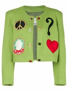 Moschino Pre-Owned Spencer cropped jacket - Green