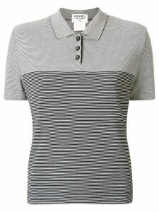 Chanel Pre-Owned striped polo shirt - White