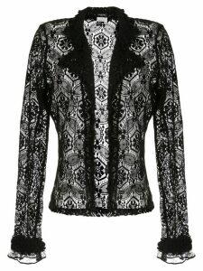Chanel Pre-Owned sheer lace cardigan - Black