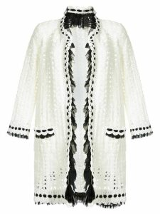 Chanel Pre-Owned open knit cardigan - White