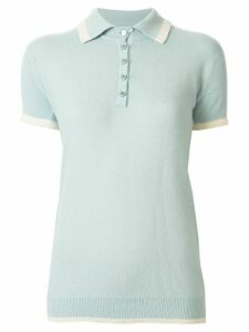 Chanel Pre-Owned 1996 cashmere polo shirt - Blue