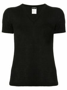 Chanel Pre-Owned V-neck knitted T-shirt - Black