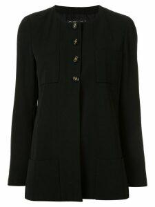 Chanel Pre-Owned 1995 collarless slim-fit jacket - Black