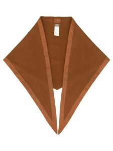 Hermès pre-owned logos stole shawl - Brown