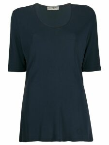 Yves Saint Laurent Pre-Owned 1990s scoop neck top - Blue