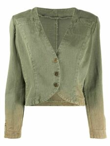 Fendi Pre-Owned 1980s cropped jacket - Green