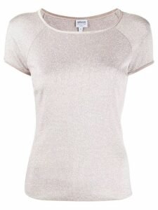 Giorgio Armani Pre-Owned 1990s boat neck T-shirt - PINK