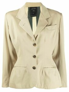 Jean Paul Gaultier Pre-Owned 1990s tailored jacket - NEUTRALS