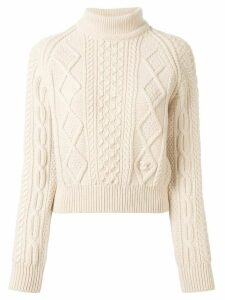 Chanel Pre-Owned 1996 cable-knit jumper - PINK