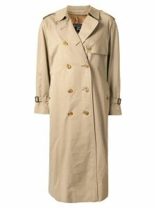Burberry Pre-Owned midi trench coat - Brown