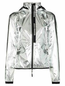 Paco Rabanne metallic zip-front track jacket - SILVER