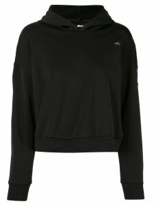 Ultracor cropped logo hoodie - Black
