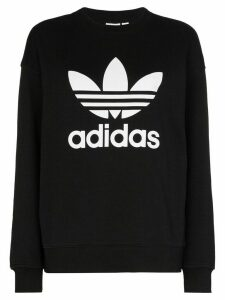 adidas logo-print cotton sweatshirt - Black
