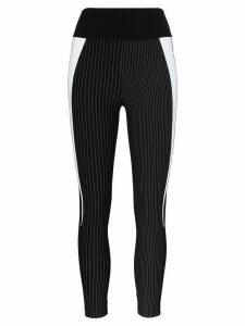 No Ka' Oi gentle pinstripe leggings - Black