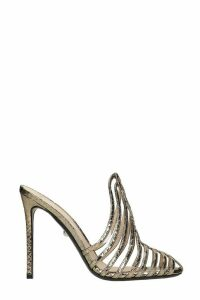 Alevi Alessandra 110 Sandals In Gold Leather
