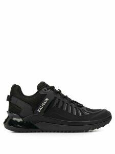 Balmain printed logo low-top sneakers - Black