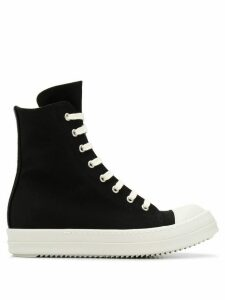 Rick Owens DRKSHDW high-top canvas trainers - Black