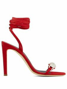 Giuseppe Zanotti Thais 105mm ankle-wrap sandals - Red
