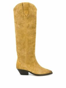 Isabel Marant pointed knee-length boots - NEUTRALS