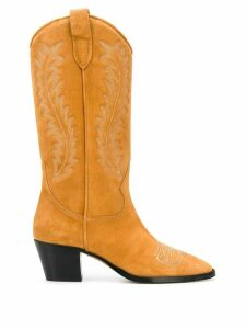 Paris Texas 60mm pointed toe cowgirl boots - NEUTRALS