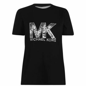 MICHAEL Michael Kors Sequin Logo T Shirt