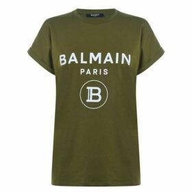 Balmain Glitter Logo T Shirt