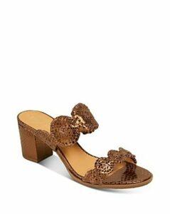 Jack Rogers Women's Lauren Snake-Embossed Block Heel Sandals