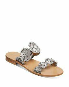 Jack Rogers Women's Lauren Metallic Snake-Embossed Sandals