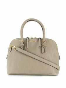 Bally textured logo handbag - NEUTRALS