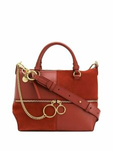 See by Chloé large panelled tote bag - Red