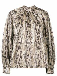 MSGM snake print blouse - NEUTRALS
