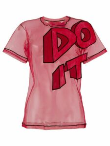 Viktor & Rolf Do It slogan T-shirt - Red