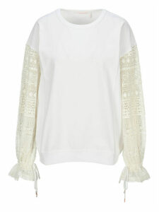 See by Chloé See By Chloe Lace Sleeves Sweatshirt