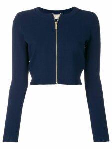 Michael Michael Kors front zipped cardigan - Blue