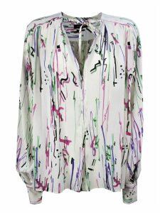 Isabel Marant Ecru White Stretch Silk Blouse