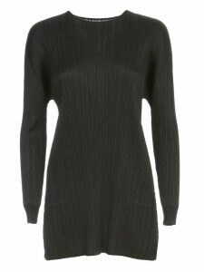 Pleats Please Issey Miyake Sweater L/s Crew Neck Rounded Bottom