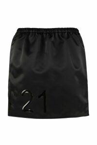 N.21 Technical Fabric Mini-skirt With Logo