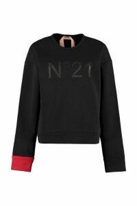 N.21 Logo Detail Cotton Sweatshirt