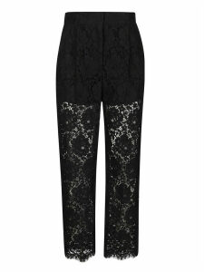 Dolce & Gabbana Floral Lace Trousers