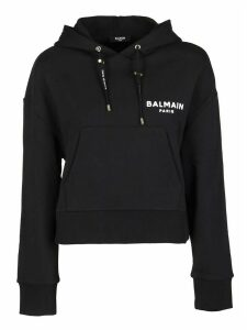 Balmain Black Cotton Sweatshirt